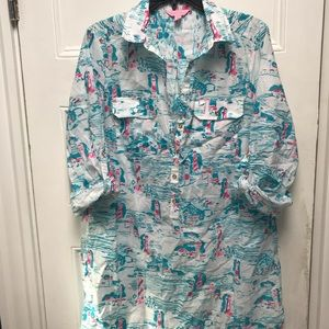 Lily Pulitzer lighthouse print tunic
